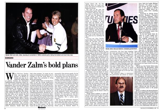 Article Preview: Vander Zalm's bold plans, November 1987 | Maclean's