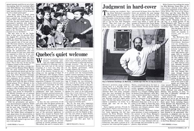 Article Preview: Judgment in hard-cover, November 1987 | Maclean's