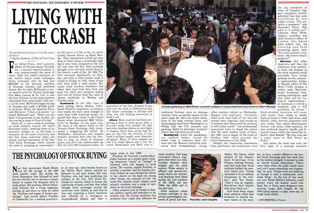 Article Preview: LIVING WITH THE CRASH, November 1987 | Maclean's
