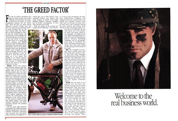 Article Preview: THE GREED FACTOR', November 1987 | Maclean's