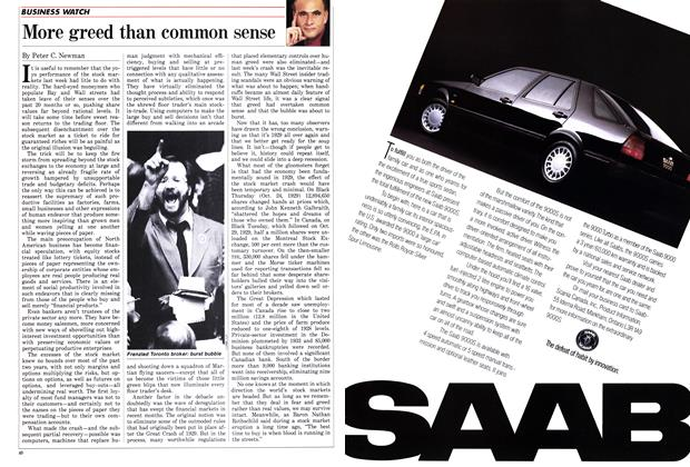 Article Preview: More greed than common sense, November 1987 | Maclean's