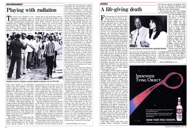 Article Preview: A life-giving death, November 1987 | Maclean's