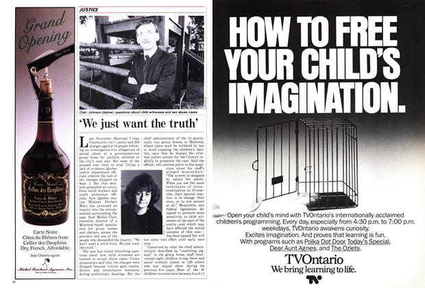 Article Preview: 'We just want the truth', November 1987 | Maclean's