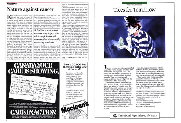 Article Preview: Nature against cancer, November 1987 | Maclean's