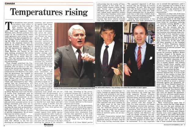Article Preview: Temperatures rising, November 1987 | Maclean's