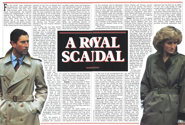 Article Preview: A ROYAL SCANDAL, November 1987 | Maclean's