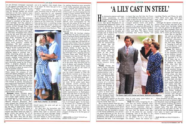 Article Preview: 'A LILY CAST IN STEEL', November 1987 | Maclean's