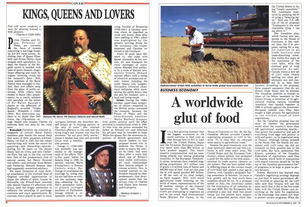 Article Preview: A worldwide glut of food, November 1987 | Maclean's