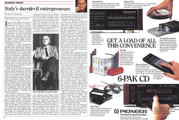 Article Preview: Italy's daredevil entrepreneurs, November 1987 | Maclean's