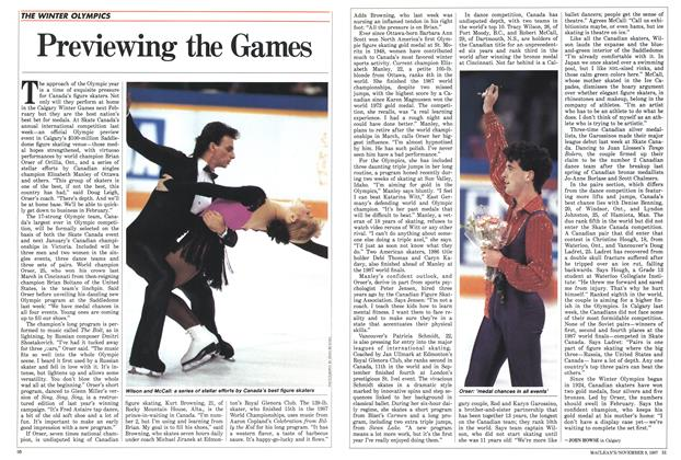 Article Preview: Previewing the Games, November 1987 | Maclean's