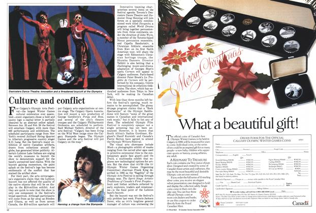 Article Preview: Culture and conflict, November 1987   Maclean's