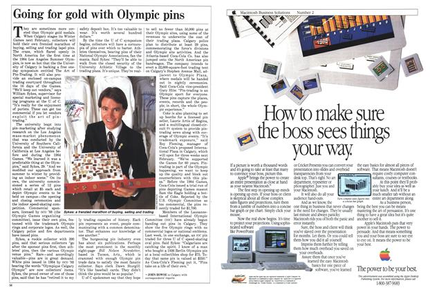 Article Preview: Going for gold with Olympic pins, November 1987 | Maclean's