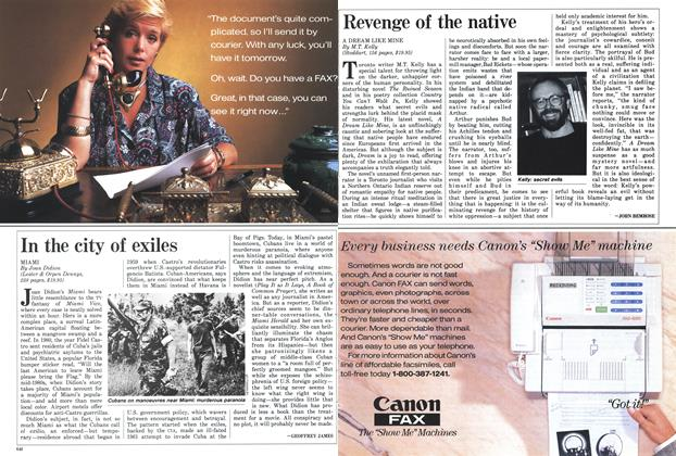 Article Preview: Revenge of the native, November 1987 | Maclean's