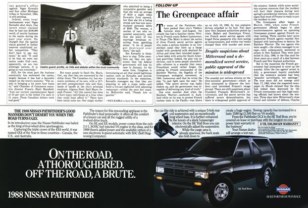 Article Preview: The Greenpeace affair, November 1987 | Maclean's