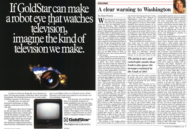 Article Preview: A clear warning to Washington, November 1987 | Maclean's