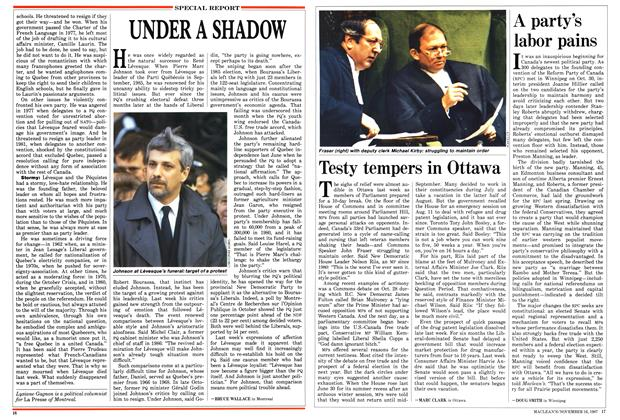 Article Preview: Testy tempers in Ottawa, November 1987 | Maclean's