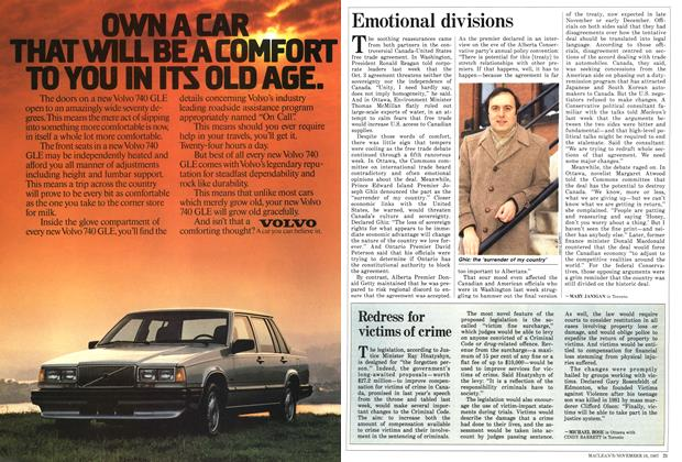 Article Preview: Redress for victims of crime, November 1987 | Maclean's