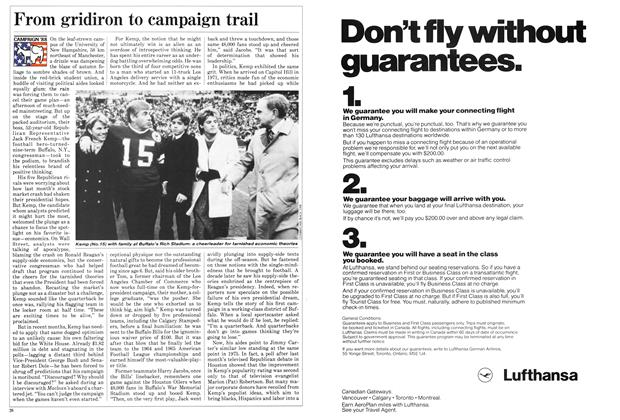 Article Preview: From gridiron to campaign trail, November 1987 | Maclean's