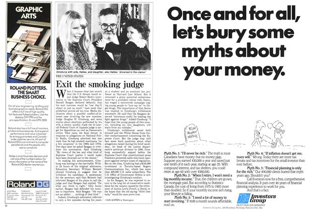 Article Preview: Exit the smoking judge, November 1987 | Maclean's