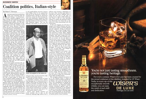 Article Preview: Coalition politics, Italian-style, November 1987 | Maclean's