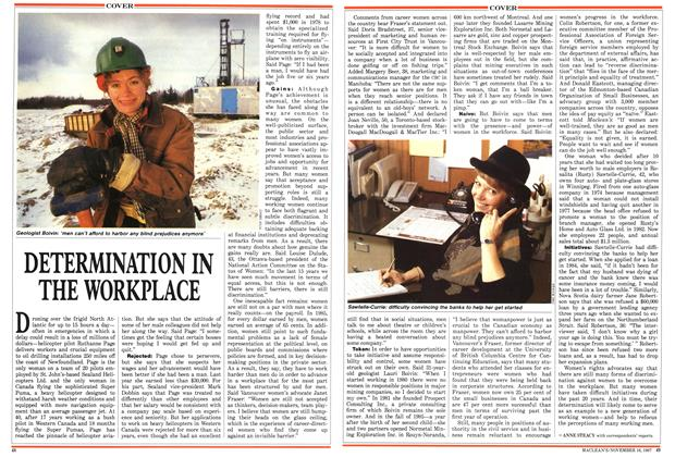 Article Preview: DETERMINATION IN THE WORKPLACE, November 1987 | Maclean's