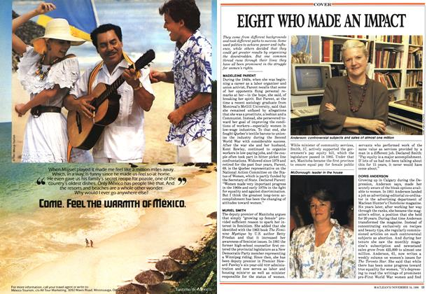 Article Preview: EIGHT WHO MADE AN IMPACT, November 1987 | Maclean's