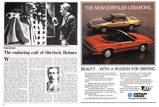 Article Preview: The enduring cult of Sherlock Holmes, November 1987 | Maclean's