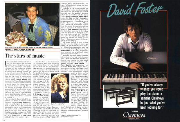 Article Preview: The stars of music, November 1987 | Maclean's