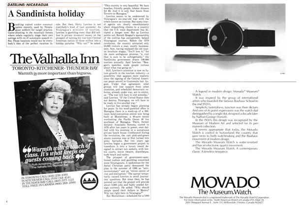 Article Preview: A Sandinista holiday, November 1987 | Maclean's