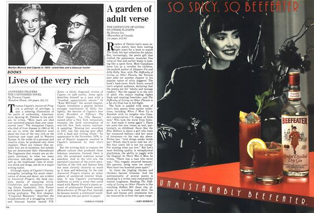 Article Preview: A garden of adult verse, November 1987 | Maclean's