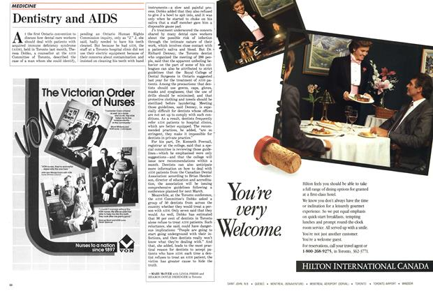 Article Preview: Dentistry and AIDS, November 1987 | Maclean's