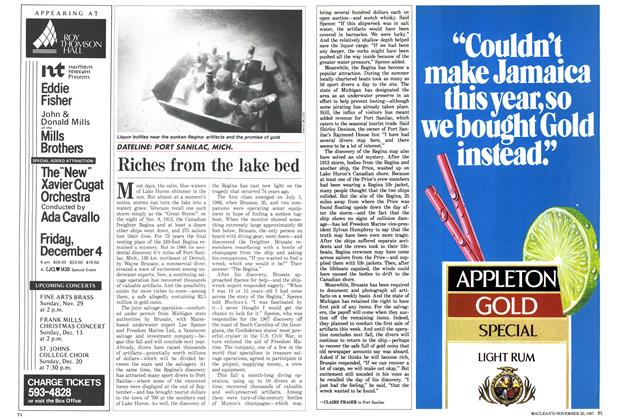 Article Preview: Riches from the lake bed, November 1987 | Maclean's