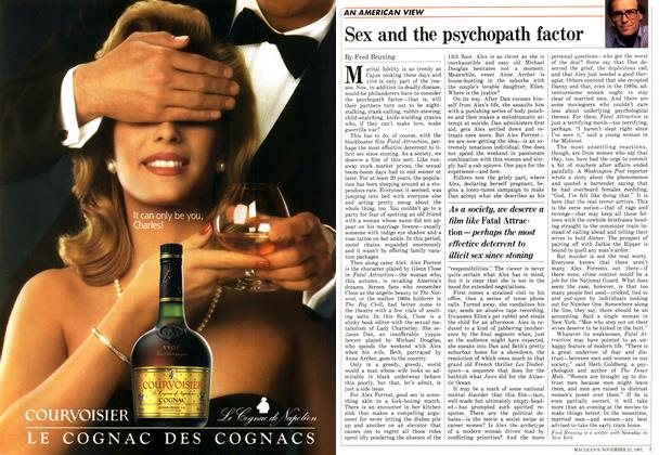 Article Preview: Sex and the psychopath factor, November 1987 | Maclean's