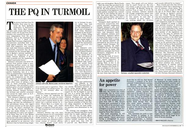 Article Preview: THE PQ IN TURMOIL, November 1987 | Maclean's