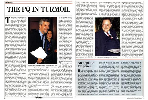 Article Preview: THE PQ IN TURMOIL, November 1987 | Maclean's