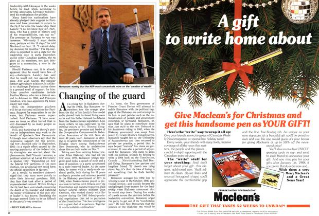 Article Preview: Changing of the guard, November 1987 | Maclean's