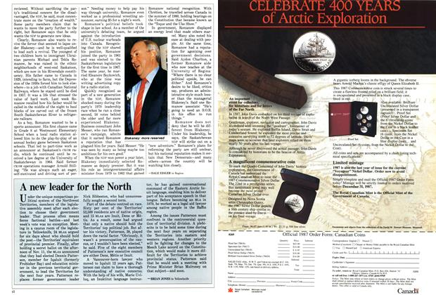 Article Preview: A new leader for the North, November 1987 | Maclean's
