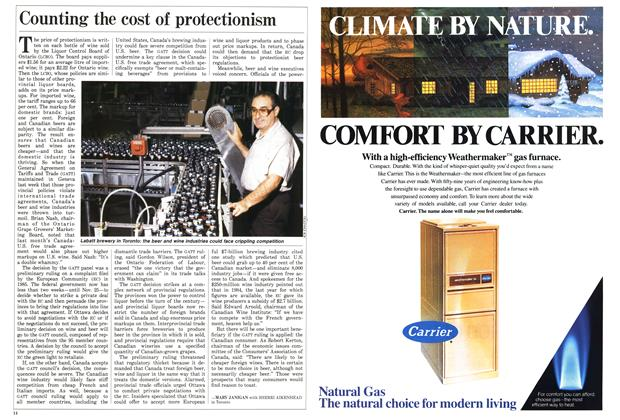 Article Preview: Counting the cost of protectionism, November 1987 | Maclean's