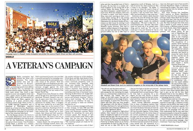 Article Preview: A VETERAN'S CAMPAIGN, November 1987 | Maclean's