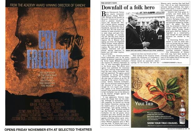 Article Preview: Downfall of a folk hero, November 1987 | Maclean's