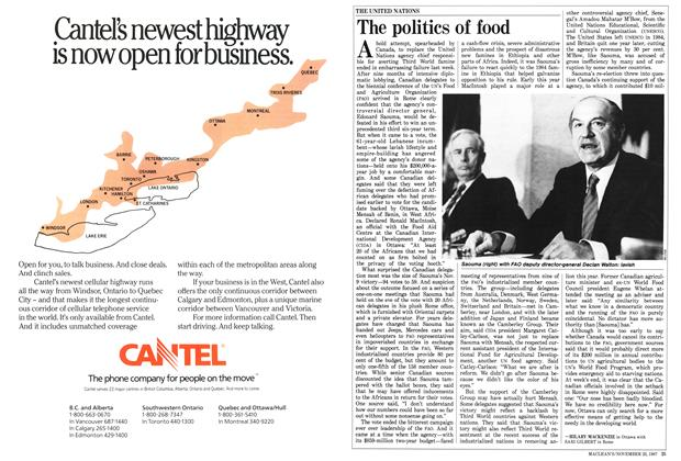 Article Preview: The politics of food, November 1987 | Maclean's