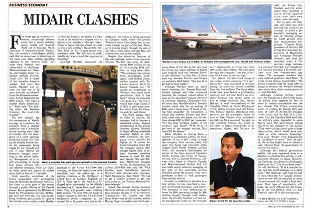 Article Preview: MIDAIR CLASHES, November 1987 | Maclean's
