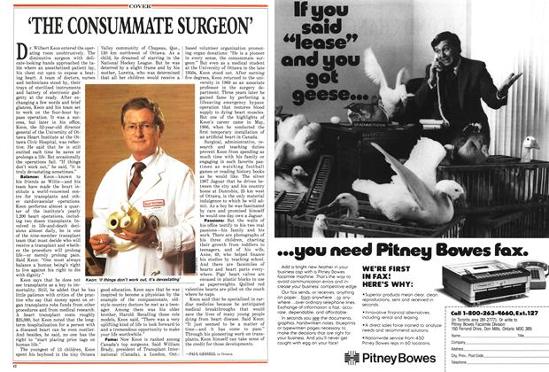 Article Preview: 'THE CONSUMMATE SURGEON', November 1987 | Maclean's