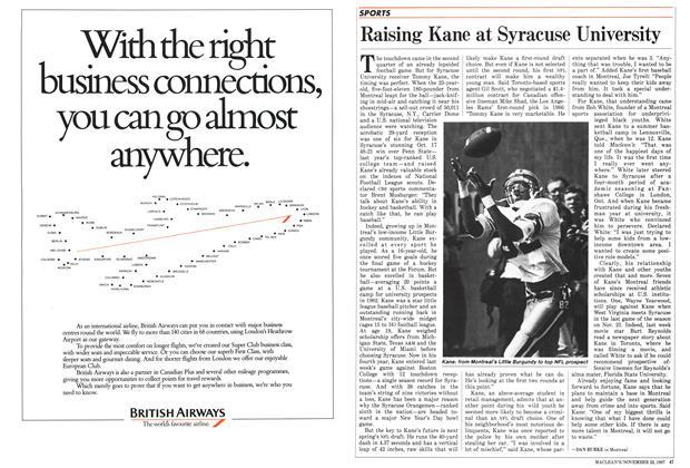 Article Preview: Raising Kane at Syracuse University, November 1987 | Maclean's
