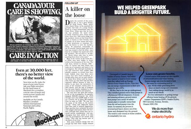 Article Preview: A killer on the loose, November 1987 | Maclean's