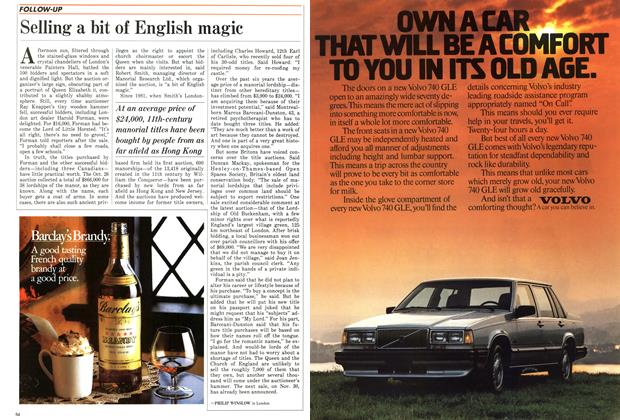Article Preview: Selling a bit of English magic, November 1987 | Maclean's