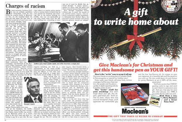 Article Preview: Charges of racism, November 1987   Maclean's