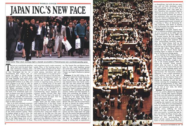 Article Preview: JAPAN INC.'S NEW FACE, November 1987 | Maclean's
