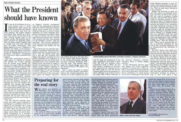 Article Preview: What the President should have known, November 1987 | Maclean's