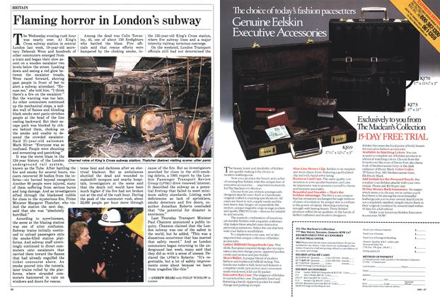 Article Preview: Flaming horror in London's subway, November 1987 | Maclean's